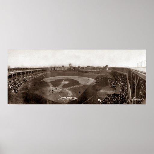 White Sox VS. Cubs 1909 - Vintage Poster