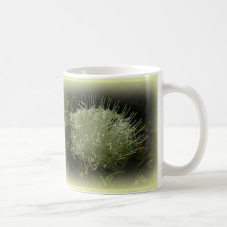 White Spaghetti Flower Mug