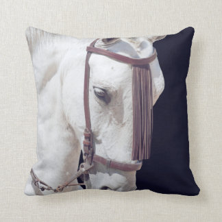 white spain horse cushion