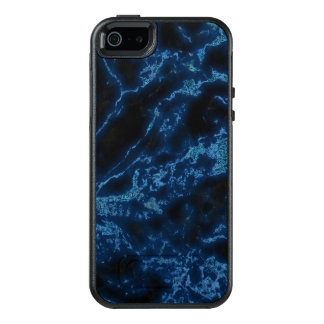 White Sparks And Blue Glitter On Black Background OtterBox iPhone 5/5s/SE Case