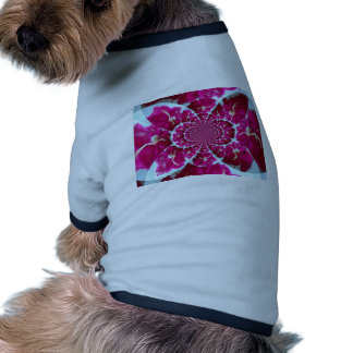 White Spider on a Beautiful Red Rose Ringer Dog Shirt