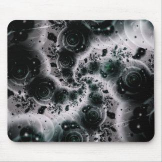 White Spiral Futuristic Art Mouse Pad