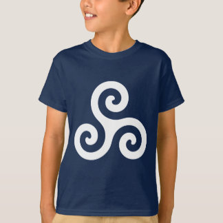 White Spiral Triskele T-shirts