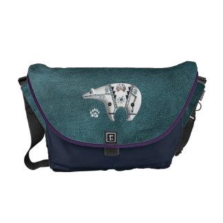 White Spirit Bear Courier Bag