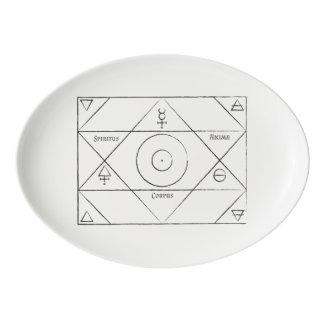 White Spiritus Anima Corpus Platter