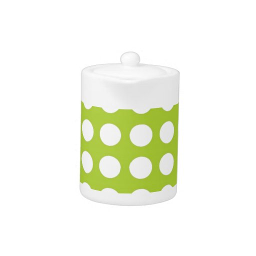 White Spots and Dots on Lime Green