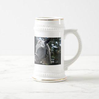 white spotted horse coffee mug