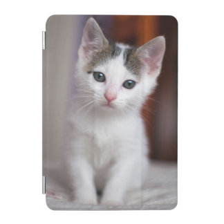 White Spotted Kitty iPad Mini Cover