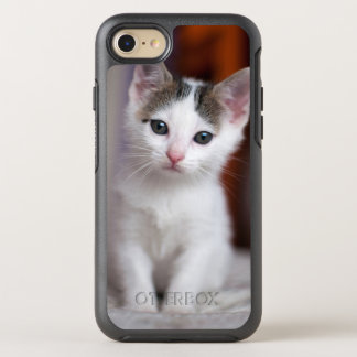 White Spotted Kitty OtterBox Symmetry iPhone 8/7 Case