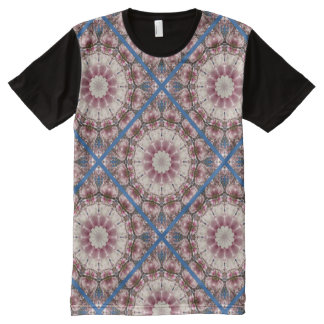 White spring blossoms 2.0.3, mandala style All-Over print T-Shirt