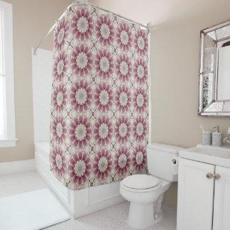 White spring blossoms 2.0, Nature Mandala Shower Curtain