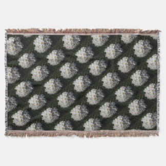 WHITE SPRING CROCUSES Throw Blanket