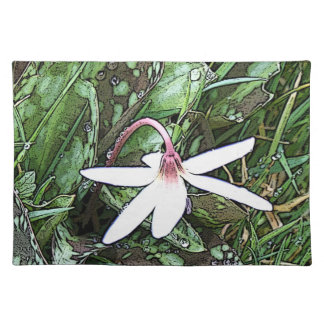 White Spring Flower Placemats