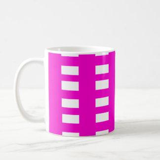 White Squares on Pink Coffee Mug