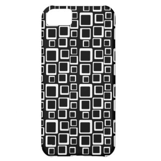 White Squares Pattern on black iPhone 5 Cover