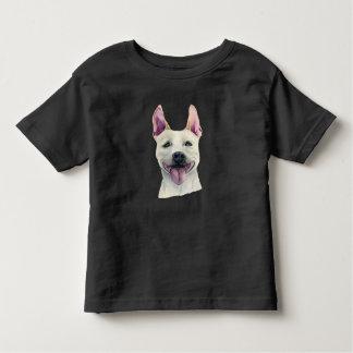 White Staffordshire Bull Terrier Dog Watercolor Toddler T-Shirt