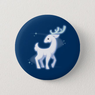 White Stag 6 Cm Round Badge