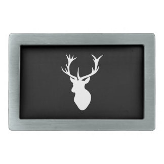White Stag Head Belt Buckles