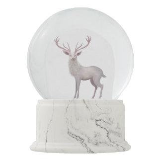 White Stag Snow Globe