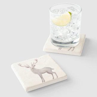 White Stag Stone Coaster