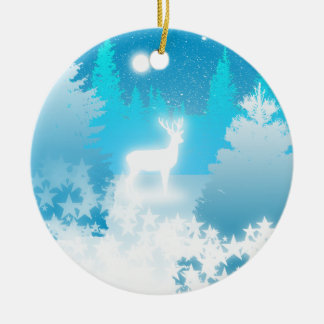 White Stag Yule Ornament