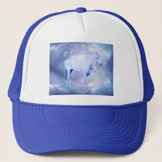 White stallion fantasy trucker hat