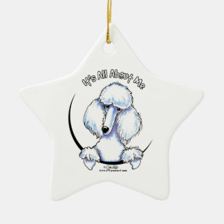 White Standard Poodle IAAM Christmas Ornament