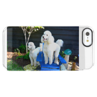 White Standard Poodle iPhone Case