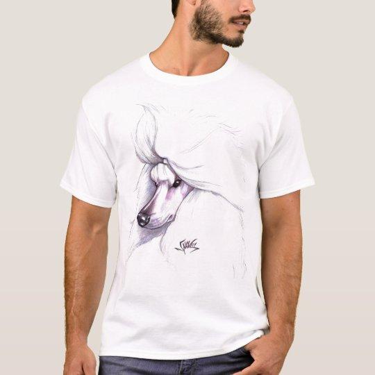 White Standard Poodle T-Shirt
