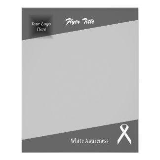 White Standard Ribbon 11.5 Cm X 14 Cm Flyer