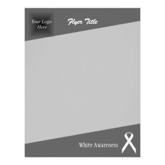 White Standard Ribbon 21.5 Cm X 28 Cm Flyer
