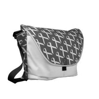 White Standard Ribbon Courier Bags