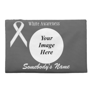 White Standard Ribbon Template Travel Accessory Bags