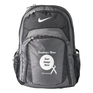 White Standard Ribbon Template Backpack