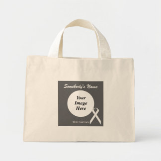 White Standard Ribbon Template Mini Tote Bag
