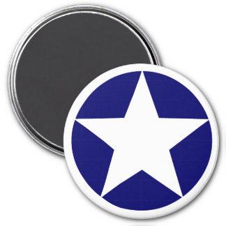 White Star 7.5 Cm Round Magnet