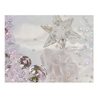 """""""White Star and Crystals"""" Postcard"""