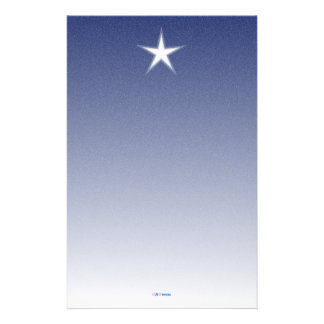 White Star Blue Paper with Snow