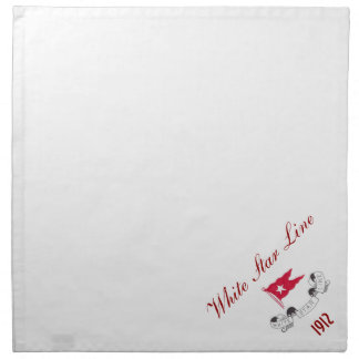 White Star Line - Dinner Napkins (White)