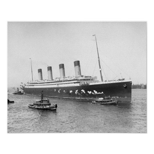 Rms Olympic: White Star Line RMS Olympic, 1911. Vintage Photo Poster