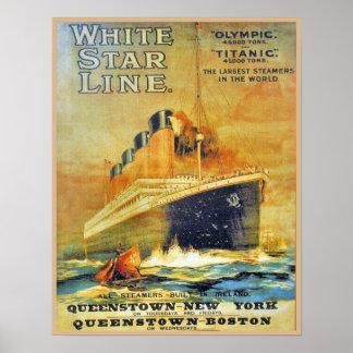 White Star Line Titanic Olympic ad Print