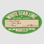 White Star Line (To customise) Oval Stickers