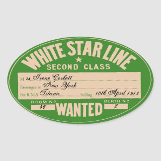 White Star Line To customize Sticker