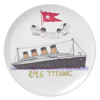 White Star Line's Titanic Plate