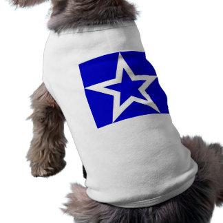 White Star on Blue - Doggie Tee/T-Shirt Sleeveless Dog Shirt