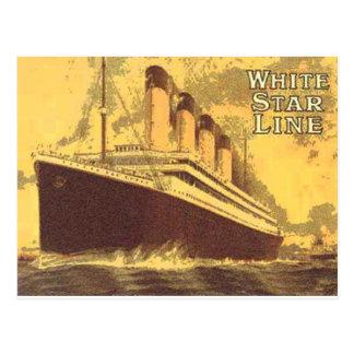White Star Postcard