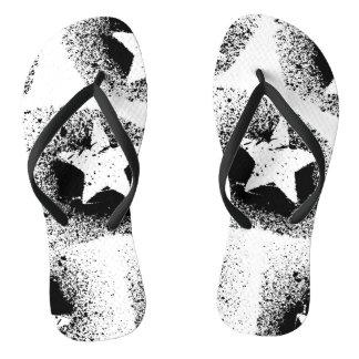 White Stars Flip Flops