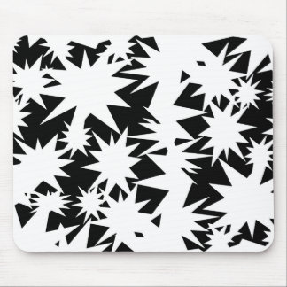 White Stars Mouse Pad