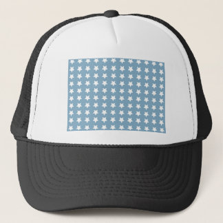 White Stars On Grey Blue Trucker Hat