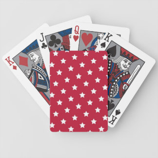 White Stars On Red Bicycle Playing Cards